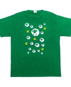 tricou barbat model Oaie verde