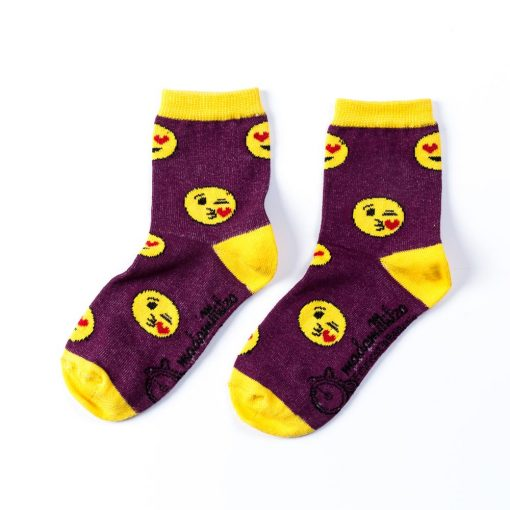 sosete pentru copii cu emoticoane, emoji socks